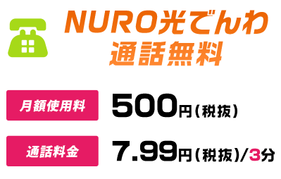 NURO光電話通話料無料